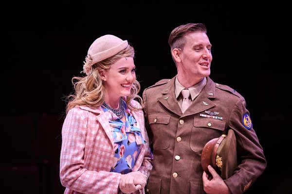 Sarah Davidson as Ruth Wilkins and Josh Hunt as Lieutenant William Seawright