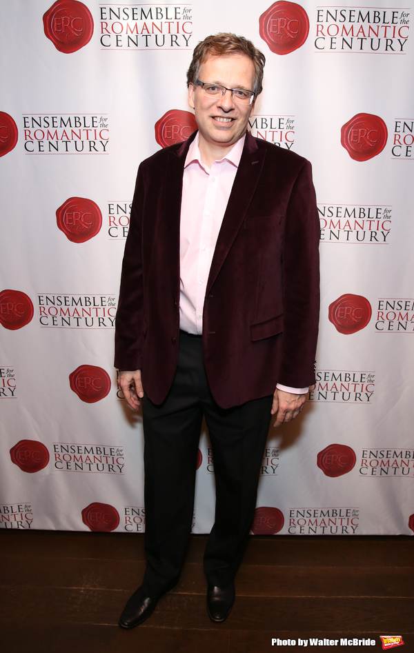 """Max Barros attends the Opening Night Party for """"Because I Could Not Stop: An Encounter with Emily Dickinson"""" at the West Bank Cafe on September 27, 2018 in New York City."""