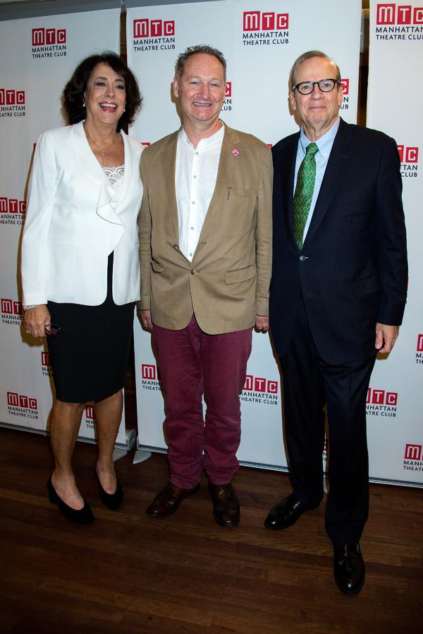 Lynne Meadow, Richard Bean, Barry Grove Photo