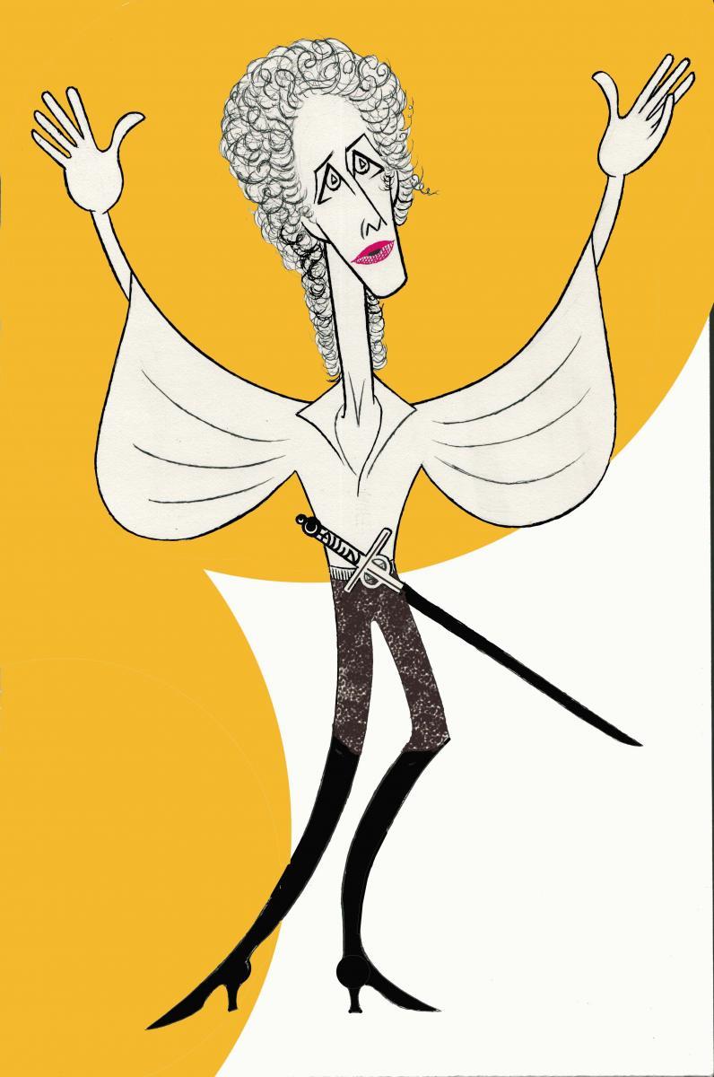 BWW Exclusive: Ken Fallin Draws the Stage - Janet McTeer in BERNHARDT/HAMLET