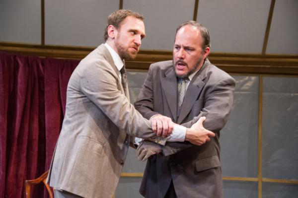Yury Lomakin as William Mumler and Steven Carpenter as Joseph Tooker