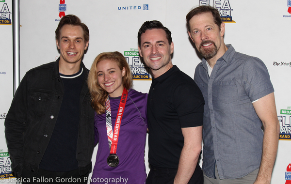 Zach Adkins, Christy Altomare, Max von Essen, and John Bolton