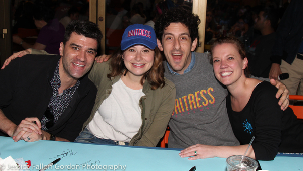 Ben Crawford, Katie Lowes, Adam Shapiro, and Patti Murin