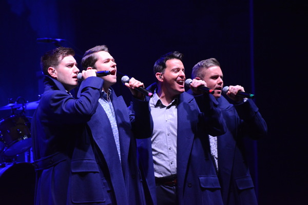 Emmet Cahill, Damian McGinty, Ryan Kelly and Neil Byrne