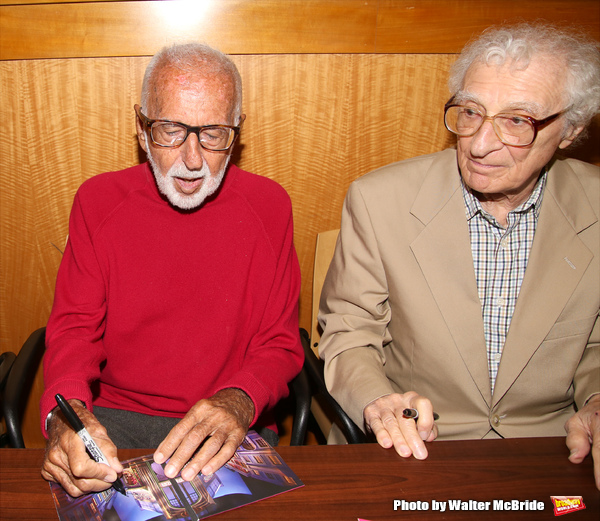 Joe Masteroff and Sheldon Harnick attends the CD release signing for the Broadway rev Photo