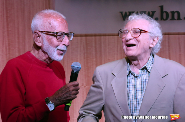Joe Masteroff and Sheldon Harnick performs at the CD release signing for  the Broadwa Photo