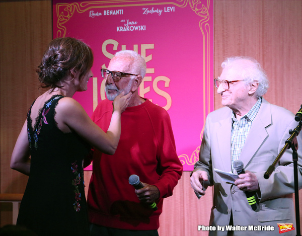 Laura Benanti, Joe Masteroff and Sheldon Harnick performs at the CD release signing f Photo