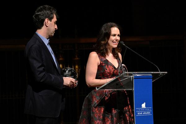 Composer Jason Robert Brown and  Georgia Stitt