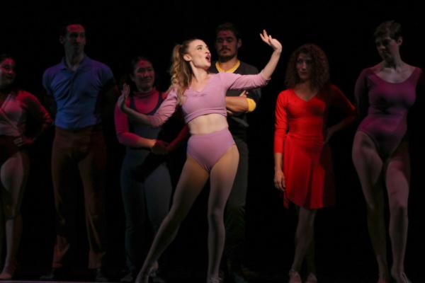 Val (Mollyanne Nunn) in A Chorus Line at Metropolis Performing Arts Centre Photo