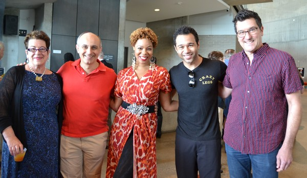 Director Molly Smith, Stephen DeRosa (Moonface Martin), Soara-Joye Ross (Reno Sweeney), Corbin Bleu (Billy Crocker) and Music Director Paul Sportelli