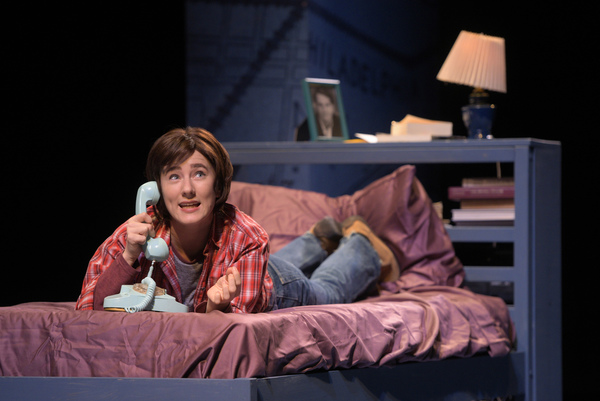 """Medium Alison (Erin Kommor) calls home from college in """"Fun Home,�"""