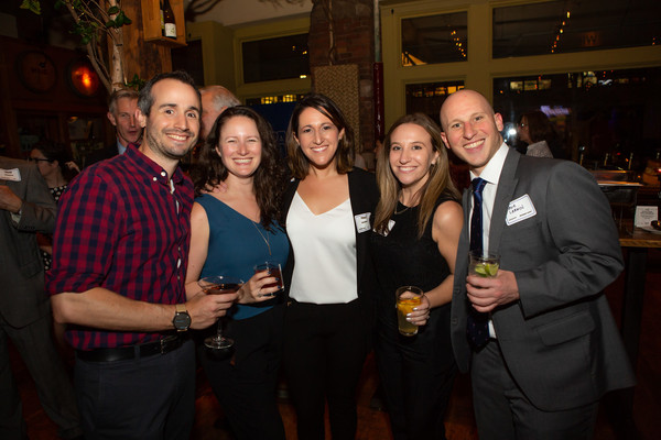 (l. to r) Greg Livoti with ATPAM members Ashley Berman, Tracy Geltman, and Molly Barn Photo