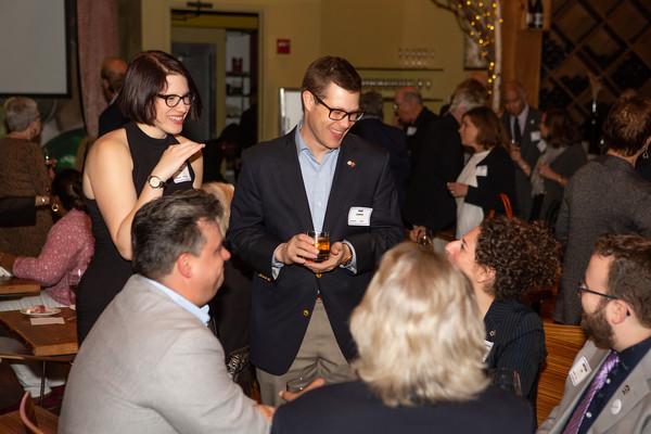 Pat Landers (USA Local 829) celebrating with Leah Oorkin (Local 764), Jennifer Halpern (IATSE), Matt Cain (IATSE), Joe Hartnett (IATSE) and Dan Di Tolla (IATSE).