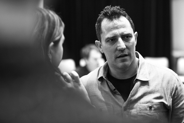 Photo flash in rehearsal with michael c hall and the company of photo flash in rehearsal with michael c hall and the company of thom pain based on m4hsunfo