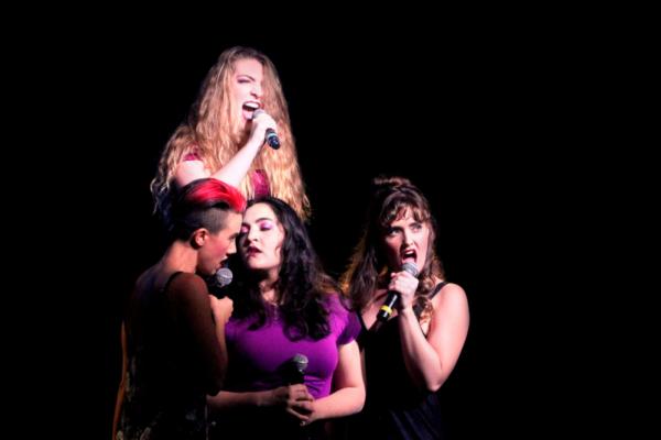 L to R: Leslie Rubino (Lizzie), Brooke Van Grinsven (Emma), Jenni Marie Lopez (Alice), and Samantha Labrecque (Bridget)