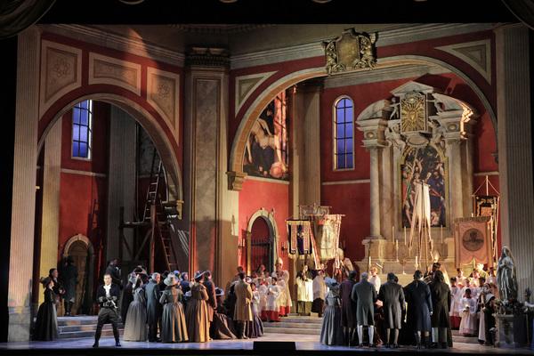 "Act I of Puccini's ""Tosca"" with Scott Hendricks as Scarpia Photo"