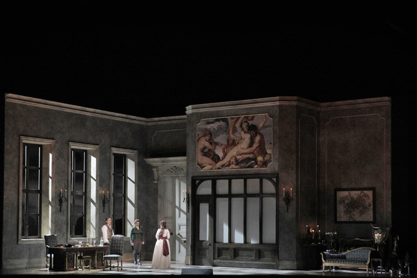 "Act II of Puccini's ""Tosca"" with Scott Hendricks as Scarpia, Joel Sorensen as Spoletta and Carmen Giannattasio as Tosca"