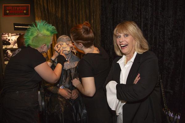 Ilene Graff watches Live Make-up Applications