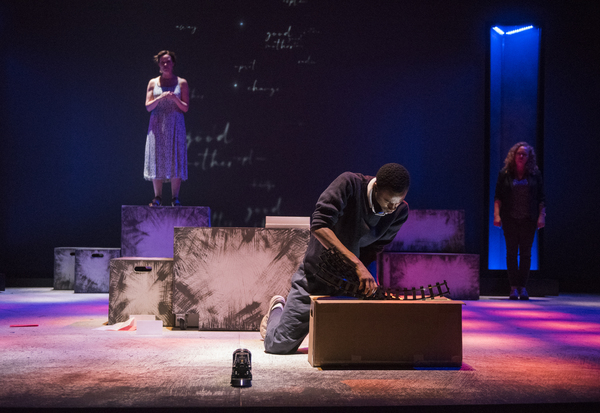 Rebecca Spence (Judy/Ensemble), Terry Bell (Christopher), Caroline Neff (Siobhan) Photo