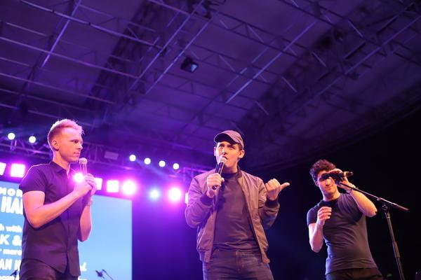 Benj Pasek, Justin Paul, and Darren Criss