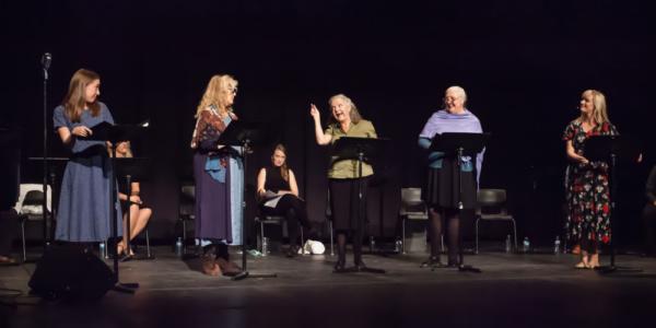 Rebecca McCauley, Judy Marshak, Charlotte Moore, Jennette White, Laura Larson. Geordi Photo
