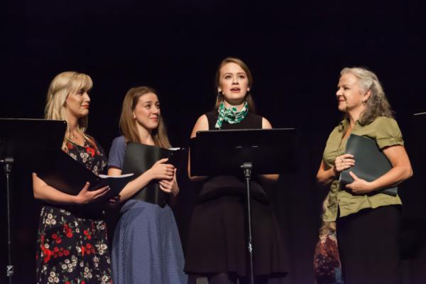 Laura Larson, Rebecca McCauley, Ellen Denny, Charlotte Moore. Geordie Brown & Belinda Photo