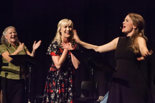 Charlotte Moore, Laura Larson, Ellen Denny. Geordie Brown & Belinda Hart's Could I Ha Photo