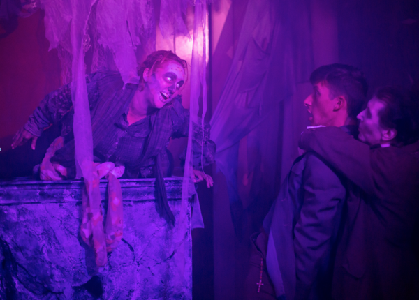Bridgette Campbell, Flynn Platt, and Kevin Dulude in Teig O-Kane and the Corpse