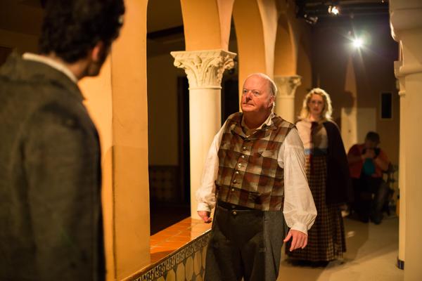 Daniel Dorr, Richard Large and Hope Lauren in The Chimes