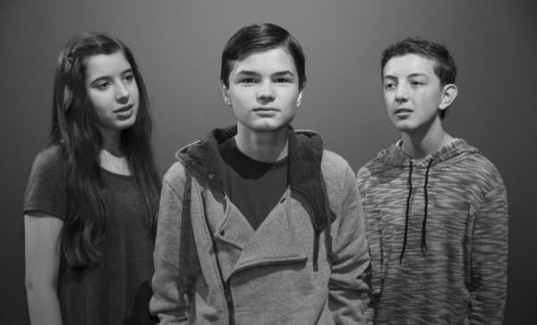 Isabella Wilson, Calin Eastes, and Cooper Warner, photograph by Jason Johnson-Spinos