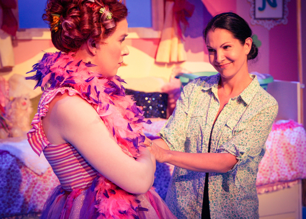 Angela Griswold as Nancy and Rachel Oliveros Catalano as Mrs. Clancy