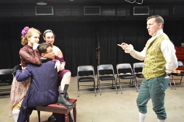 Laurel Andersen as Lucrece, Emily Sarah Cohn as Massaude, Chris Rivera as Doctor Nan Photo