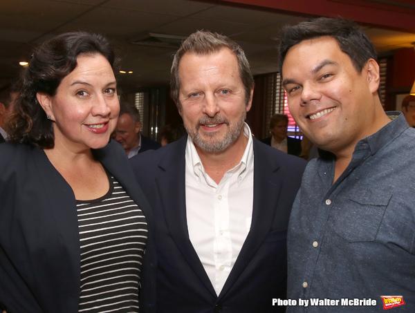 Kristen Anderson-Lopez, Rob Ashford and Robert Lopez with Rob Ashford Photo