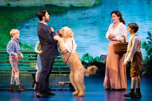 Josiah Smothers, Jeff Sullivan, Ruby Gibbs and Paul Schoeller in Finding Neverland