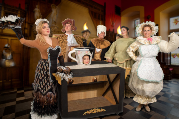 Erin Wurtz as Babette, Marc Suznovich as Cogsworth, Tom Chiola as Lumiere, Jenn Torres as The Wardrobe, Jessica Corriveau as Mrs. Potts, and Tristan Davis as Chip