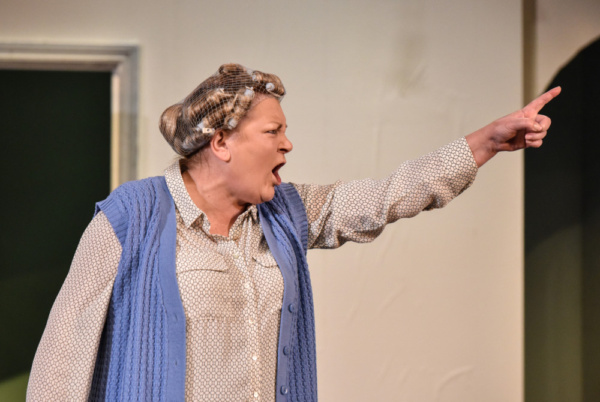 Kerry Joy Stewart as Pat in HERE by Michael Frayn, playing at Greenwich Theatre until Photo
