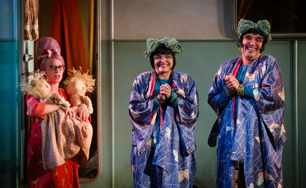Grandma Chance (Katy Owen), Nora (Etta Murfitt) and Dora (Gareth Snook)