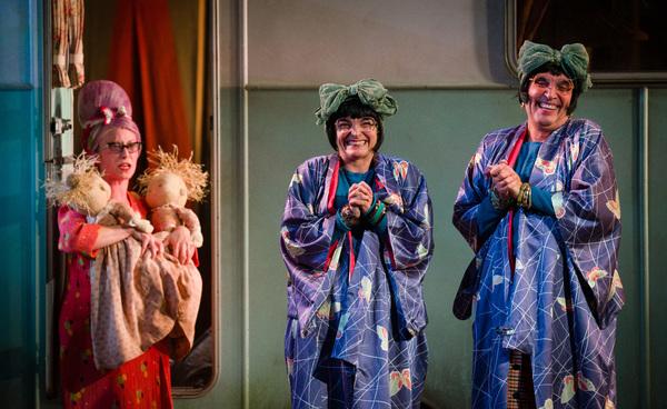 Grandma Chance (Katy Owen), Nora (Etta Murfitt) and Dora (Gareth Snook)