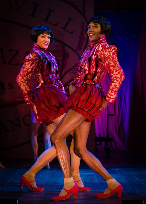 Showgirl Dora (Melissa James) and Showgirl Nora (Omari Douglas) Photo