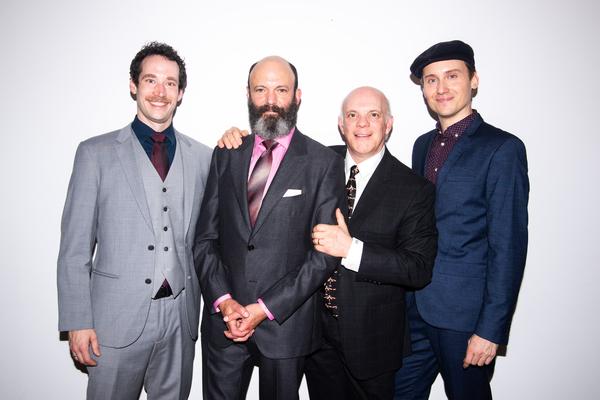 Logan James Hall, Geoffrey Cantor, Eddie Korbich, Carlo Bosticco
