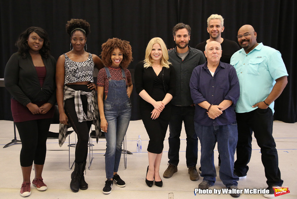 Amma Osei, Amber Iman, Allison Semmes, Megan Hilty, Josh Radnor, Lee Wilkof, Nick Cordero and James Monroe Iglehart