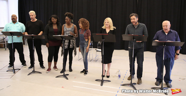James Monroe Iglehart, Nick Cordero, Amma Osei, Amber Iman, Allison Semmes, Megan Hilty, Josh Radnor and Lee Wilkof