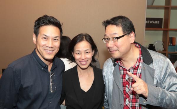 Ian Wen, Lia Chang and author Ed Lin Photo