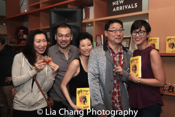 Jo Mei, David Shih, Deborah S. Craig, author Ed Lin and his wife Cindy Cheung Photo