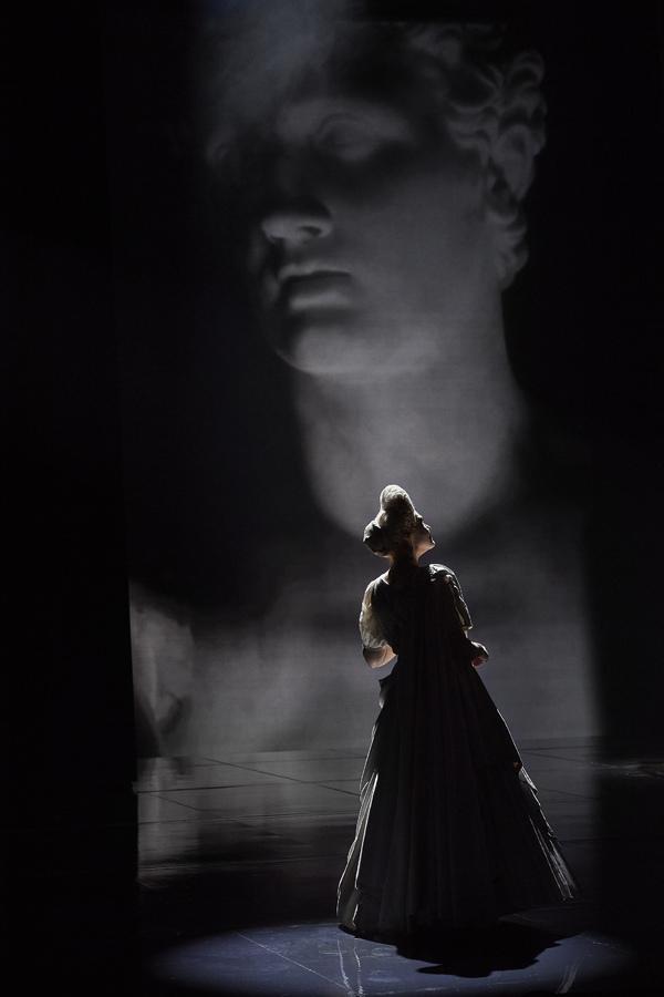 Karita Mattila as Plotina in the Canadian Opera Company's world premiere prod Photo