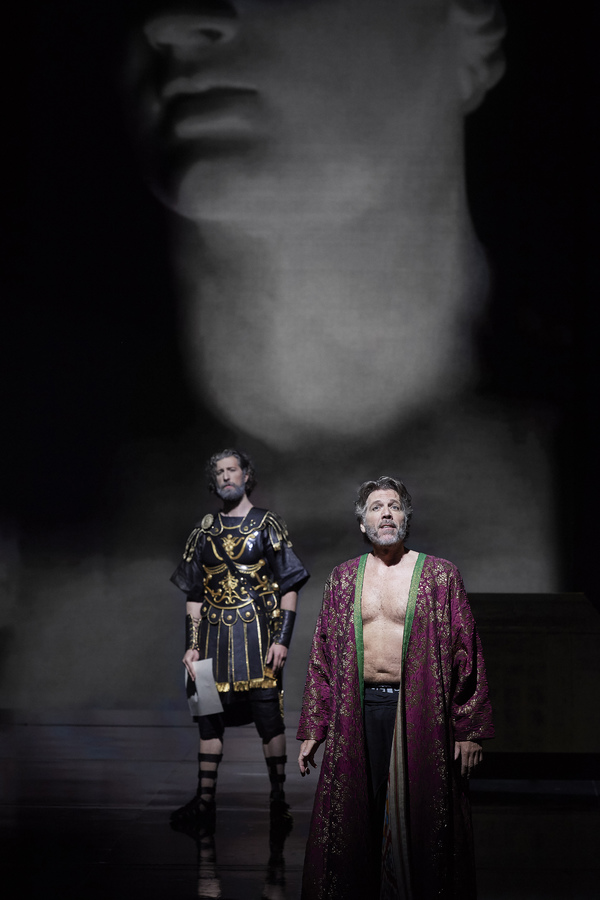 David Leigh as Turbo and Thomas Hampson as Hadrian  in the Canadian Opera Company's world premiere production of Hadrian