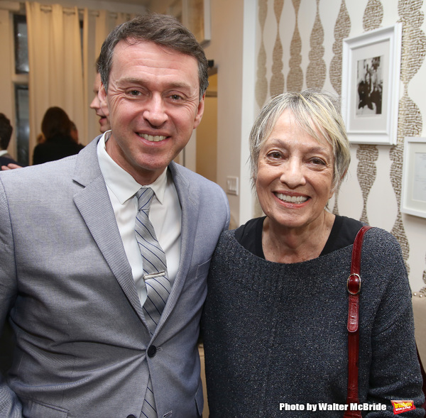Andrew Lippa and Carol Hall during The DGF's 14th Biannual Madge Evans & Sidney Kingsley Awards at the Dramatists Guild Fund headquarters on April 4, 2016 in New York City.