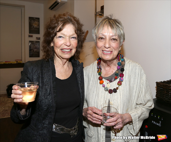 Gretchen Cryer and Carol Hall attends the Dramatists Guild Fund Music Hall and Office warming party at their new home on April 17, 2015 in New York City.