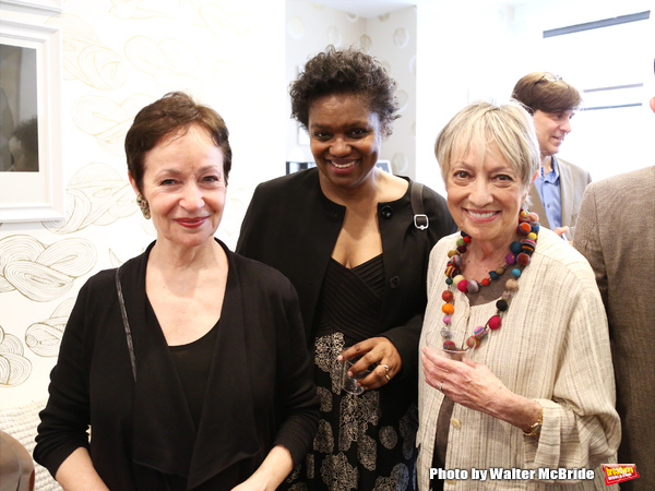 Lynn Ahrens, Kirsten Childs and Carol Hall attend the Dramatists Guild Fund Music Hall and Office warming party at their new home on April 17, 2015 in New York City.
