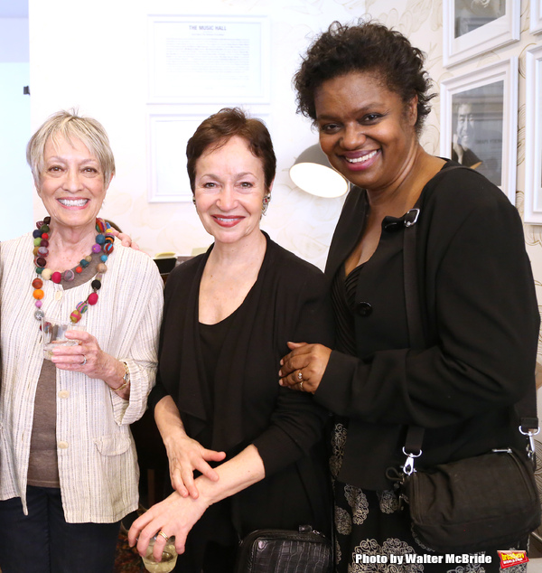 Carol Hall, Lynn Ahrens and Kirsten Childs  attends the Dramatists Guild Fund Music Hall and Office warming party at their new home on April 17, 2015 in New York City.